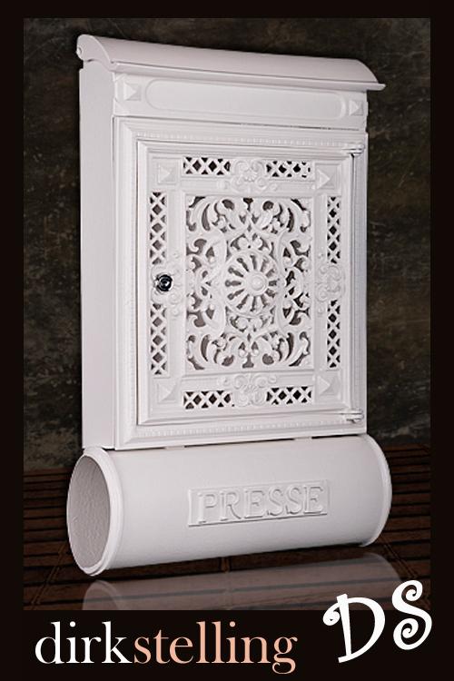 briefkasten alu sandguss antik exklusive dekoration nostalgie weiss landhaus ebay. Black Bedroom Furniture Sets. Home Design Ideas
