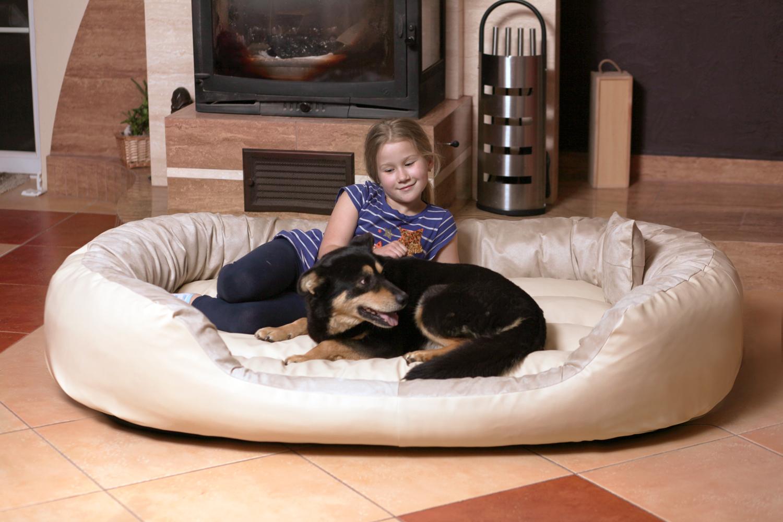 tierlando hundebett philip vip kunstleder velours 110 140. Black Bedroom Furniture Sets. Home Design Ideas