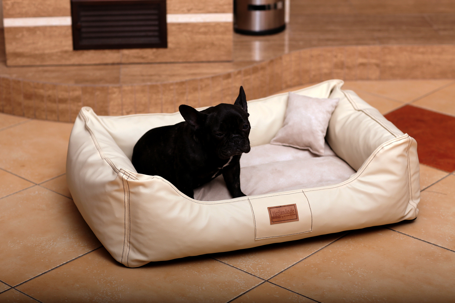 Maddox vip dog bed from tierlando dog sofa velour leather for Sofa 70 cm profundidad